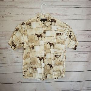 MENS Bit & Bridle horse all over print sz xl